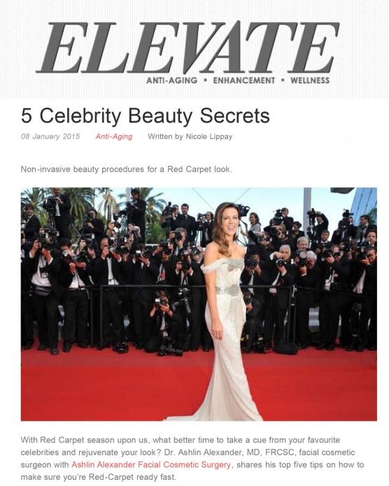 5 Celebrity Beauty Secrets by Elevate Magazine