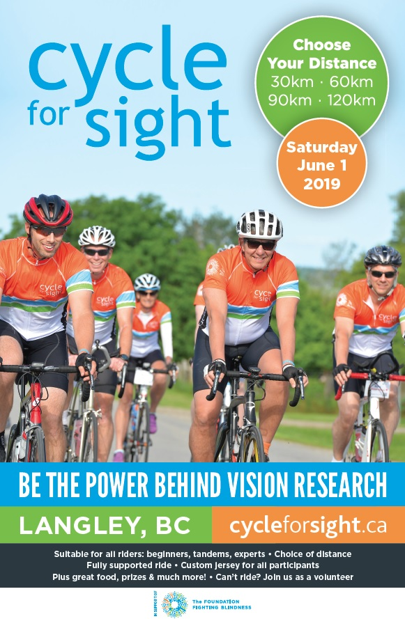 Cycle for sight 2019 poster